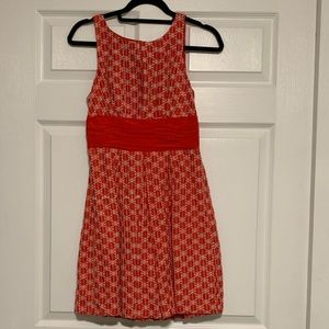 Anthropologie Red / Orange Dress Size 4
